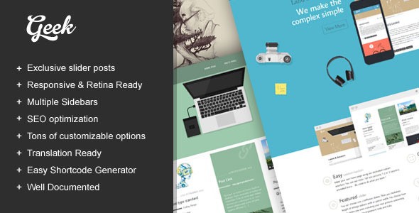 Geek - Creative Multi-Purpose WordPress Theme