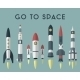 Rockets Going To Space. Vector Flat Design Colored - GraphicRiver Item for Sale