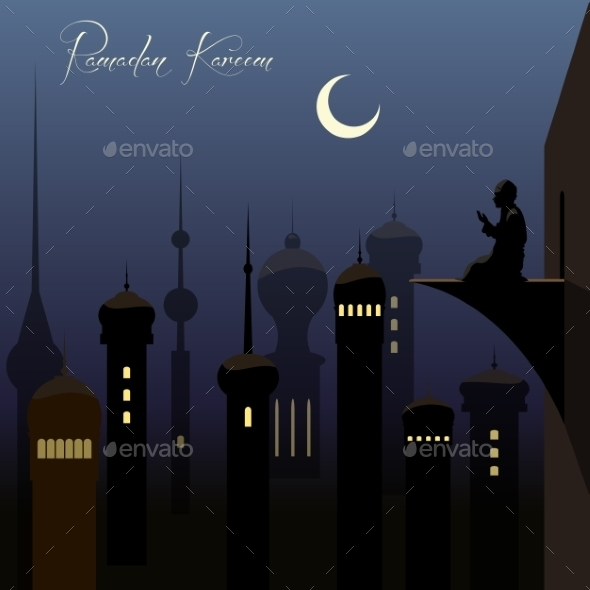 Ramadan Kareem Background With Arabic - Religion Conceptual
