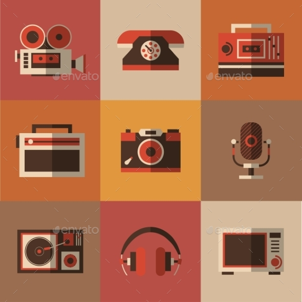 Radio, Photo, Phone, Microphone In One Picture - Web Technology