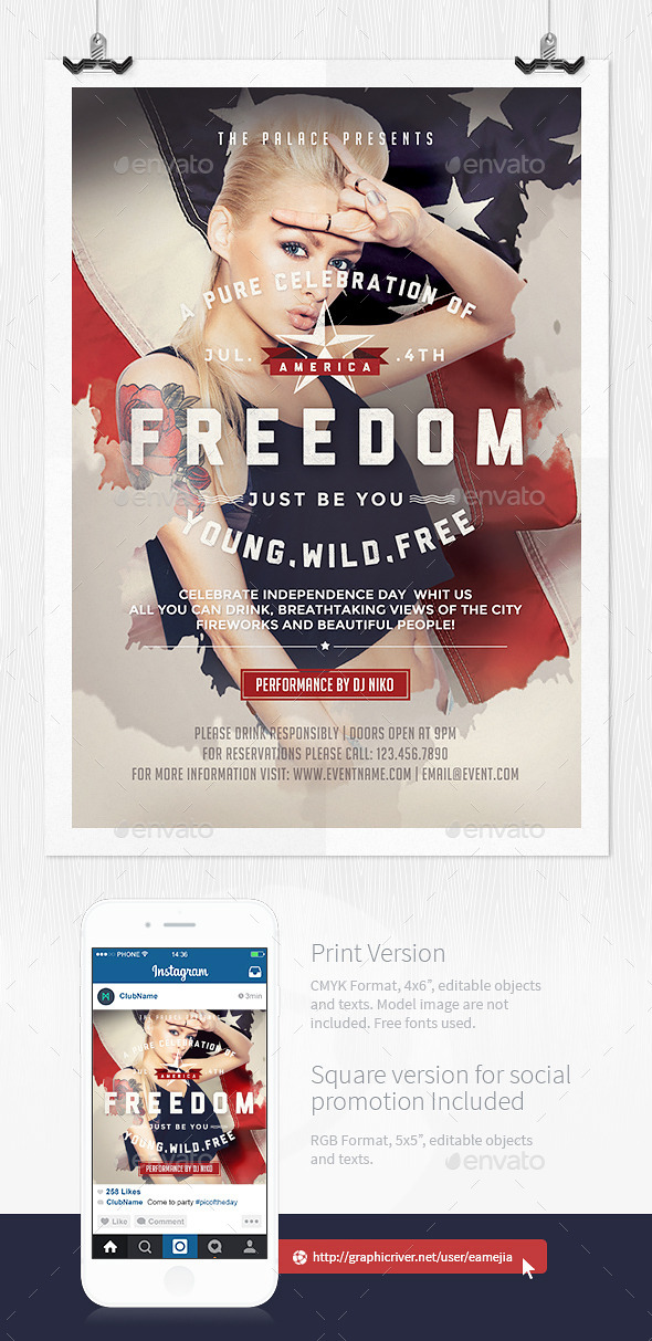 July 4th Independence Day Flyer Template - Events Flyers