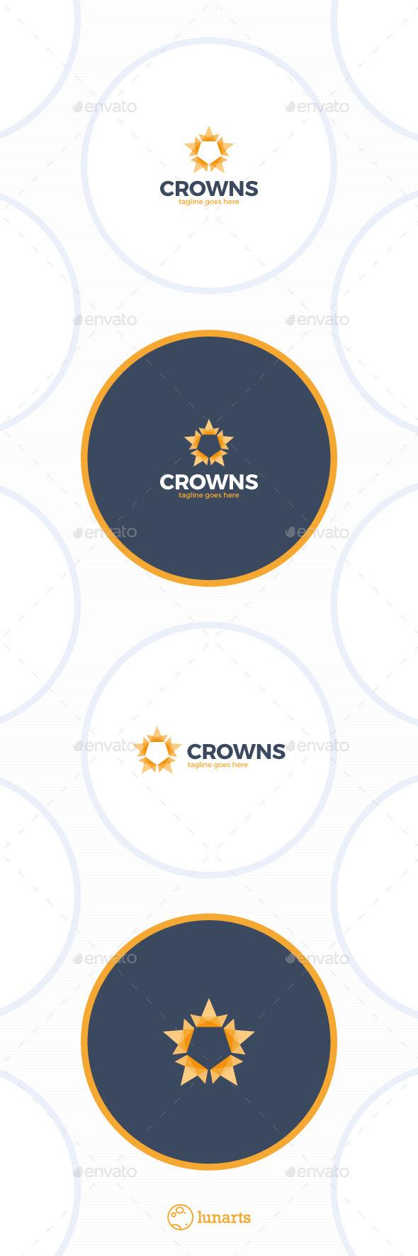 Crown Star Hex Logo