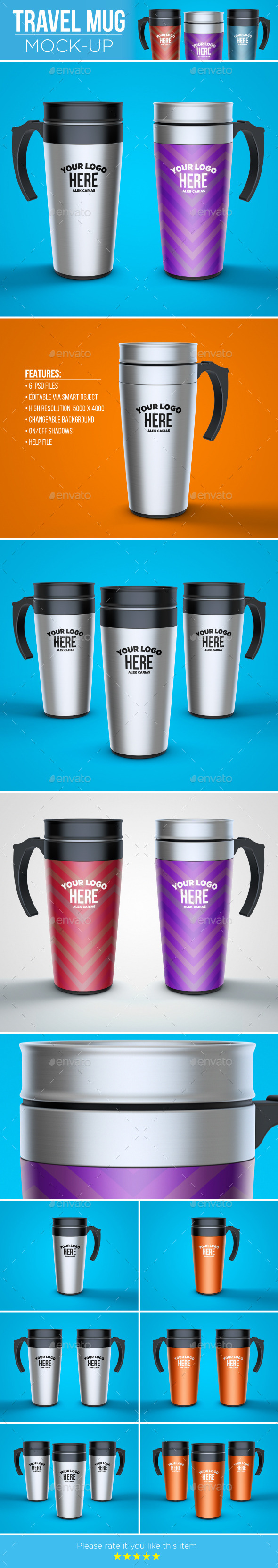 Travel Mug Mock-Up - Food and Drink Packaging