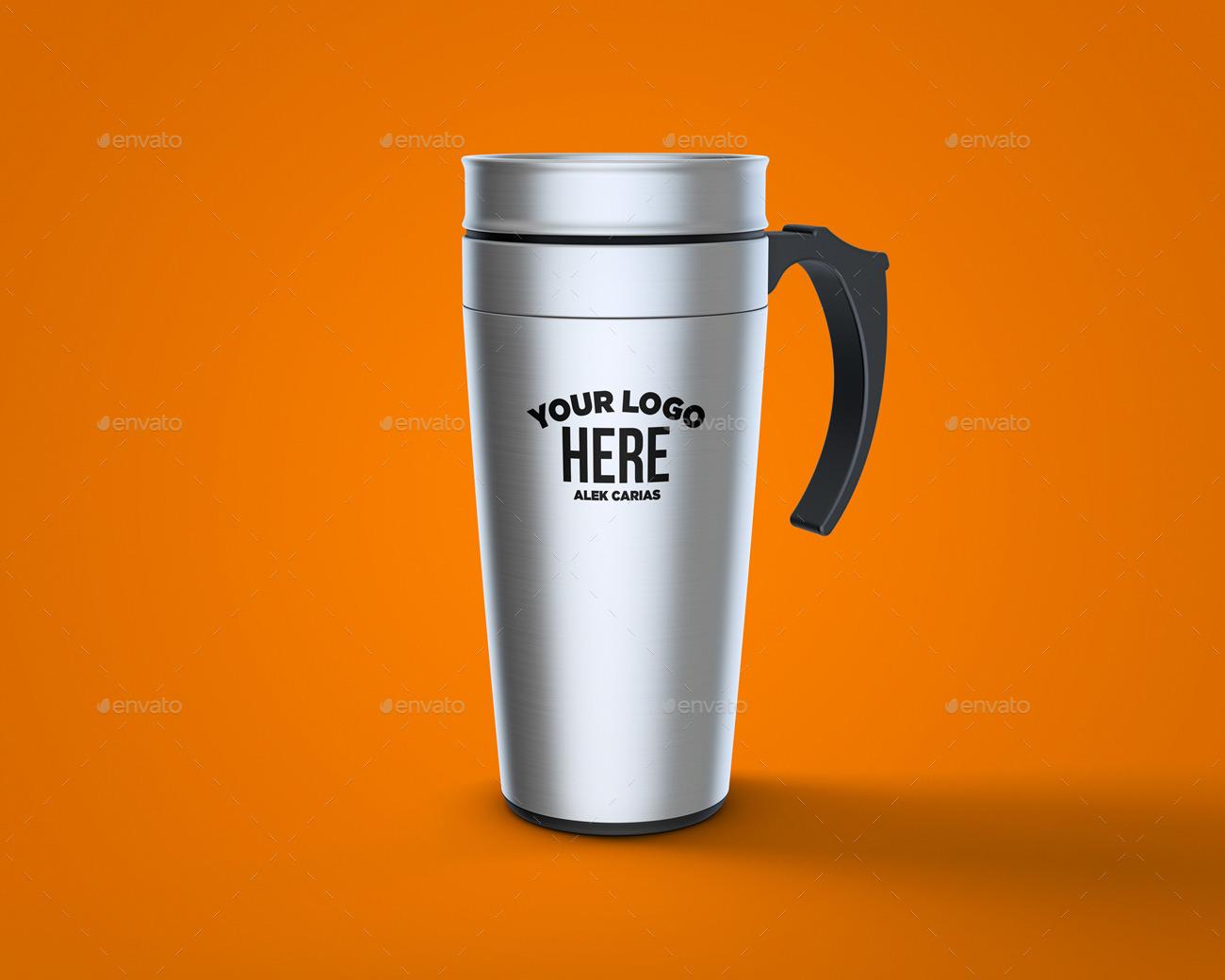 travel mug mockup by alkdesign graphicriver
