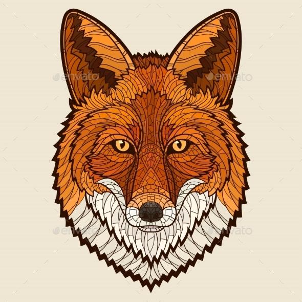 Fox Head - Animals Characters
