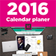 2016 Calendar Planer - GraphicRiver Item for Sale