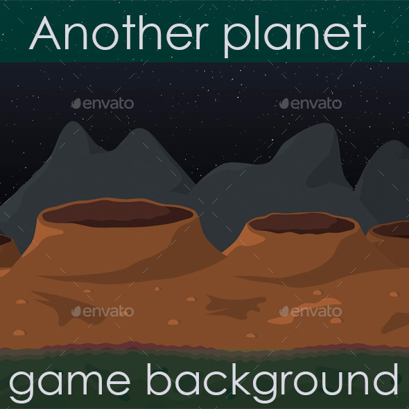 Another Planet Game Background - Backgrounds Game Assets
