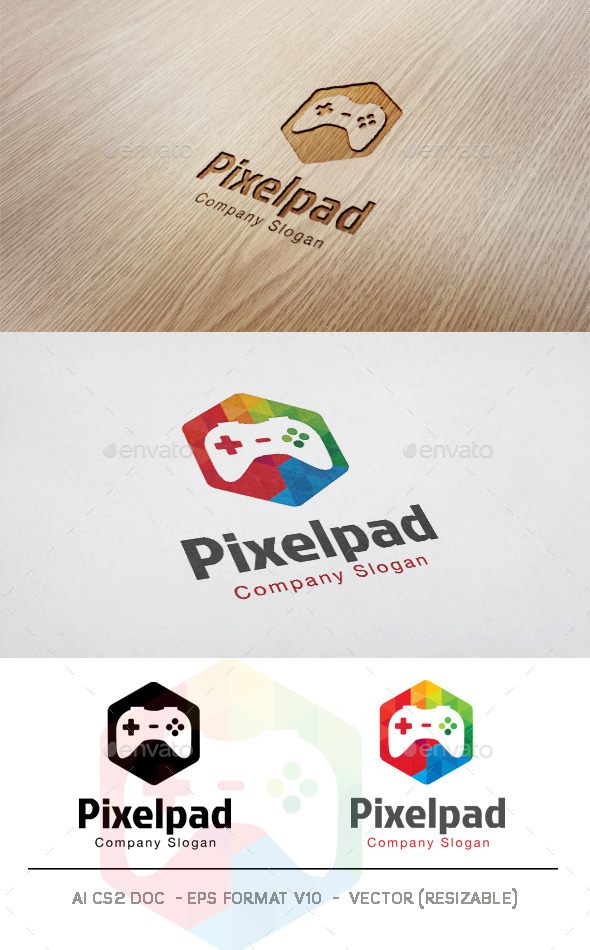 Pixel Pad Logo - Objects Logo Templates