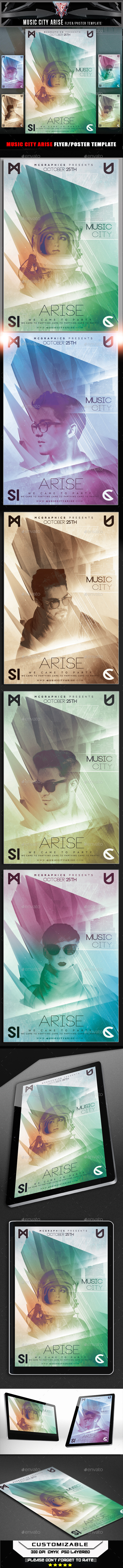 Music City Arise Flyer Template - Flyers Print Templates