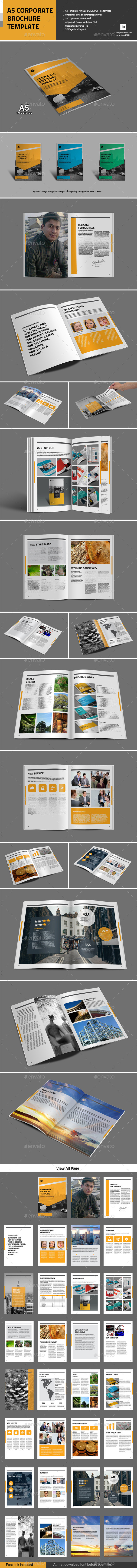A5 Corporate Brochure Templage - Corporate Brochures