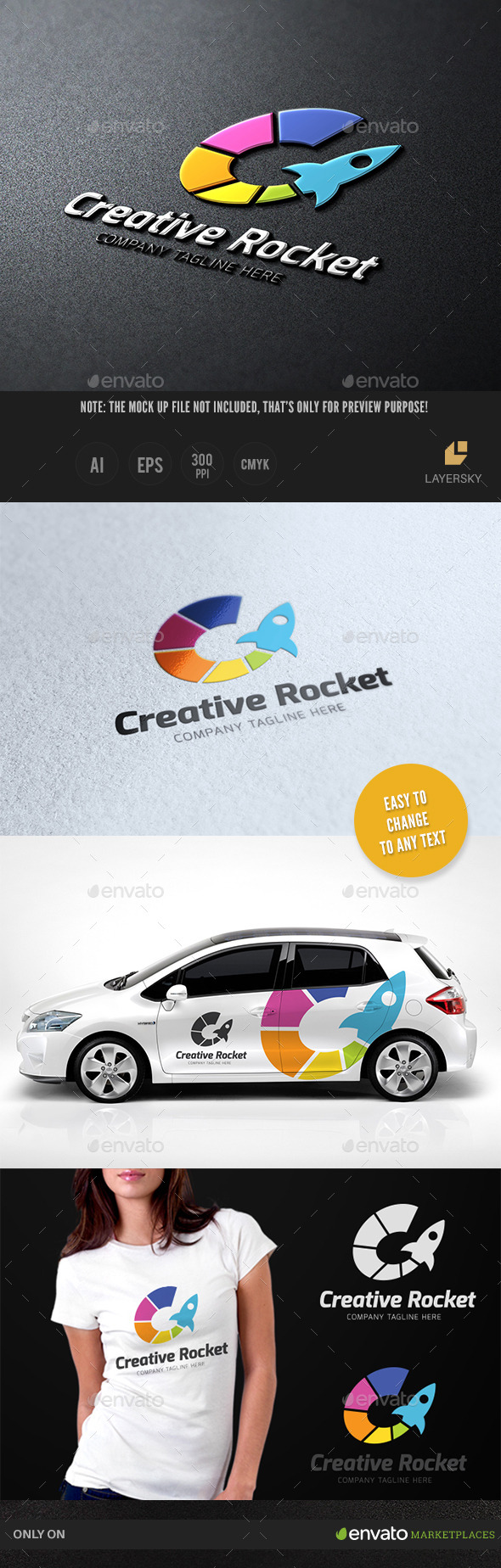 Creative Rocket - Objects Logo Templates