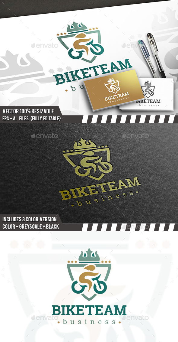 Pro Bike Logo - Humans Logo Templates