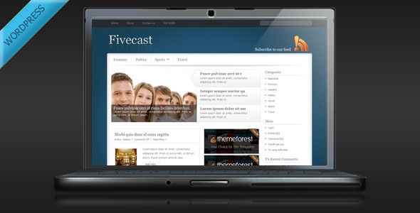Fivecast – Premium Magazine WordPress Theme
