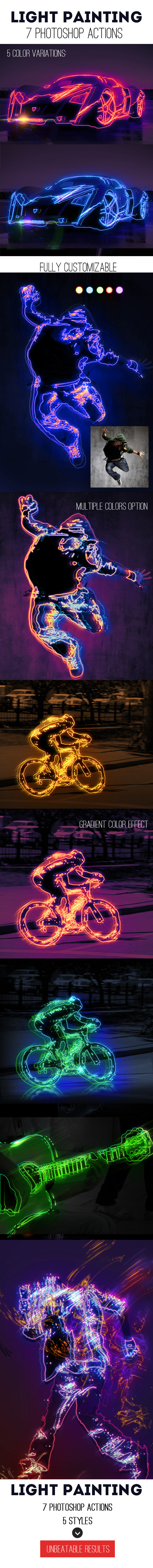 Light Painting Effect Photoshop Creator - Photo Effects Actions