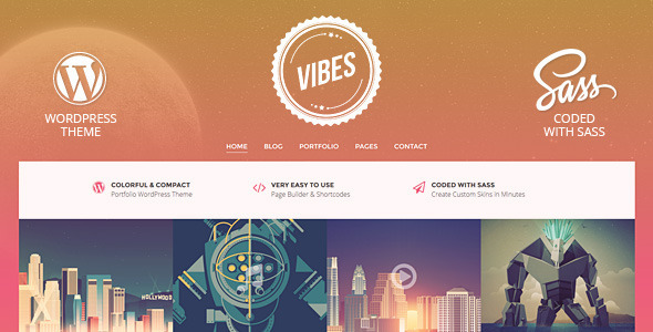 Vibes - Colorful Compact Portfolio (WordPress)