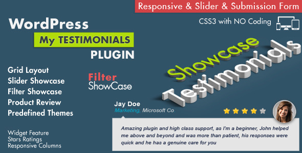 Testimonials Showcase Wordpress Plugin - CodeCanyon Item for Sale