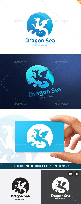Dragon Sea - Animals Logo Templates