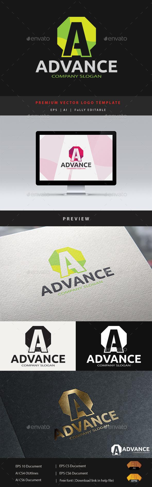 Advance A Logo - Letters Logo Templates