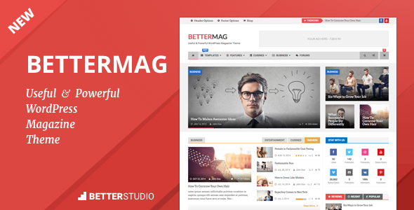 BetterMag – News, Blog, Magazine WordPress Theme