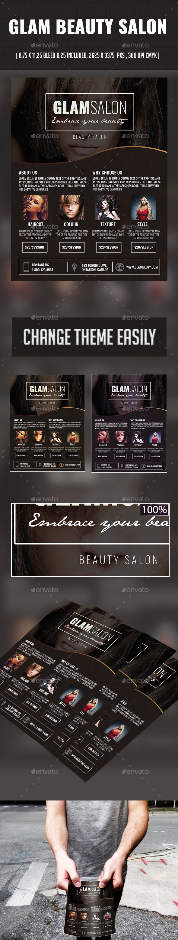 Glam Beauty Salon - Commerce Flyers