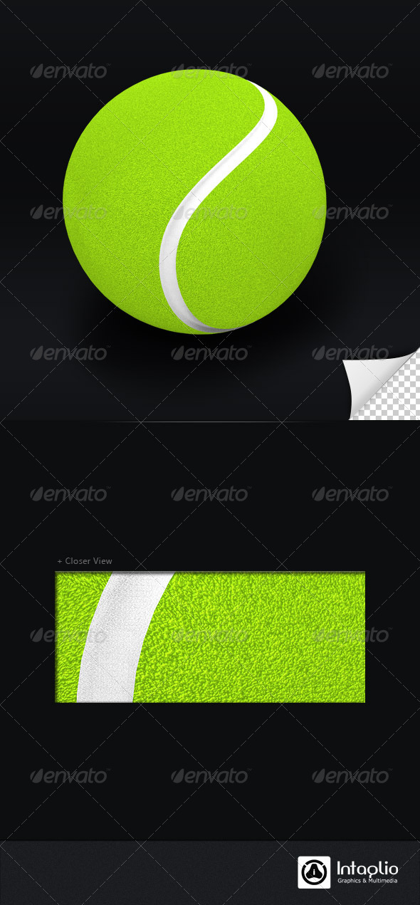 Tennis Ball 3D Render - Objects 3D Renders