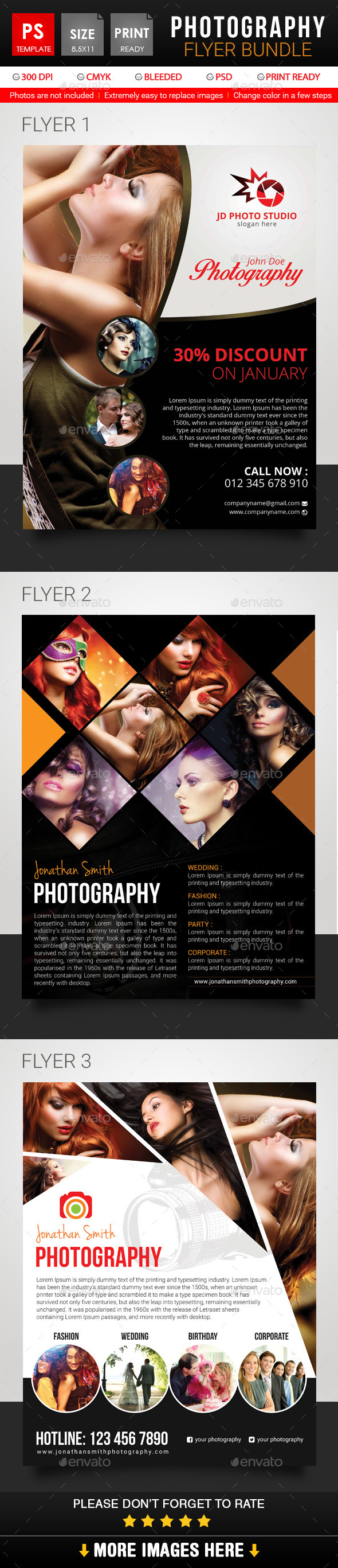 Photography Flyer Bundle - Corporate Flyers