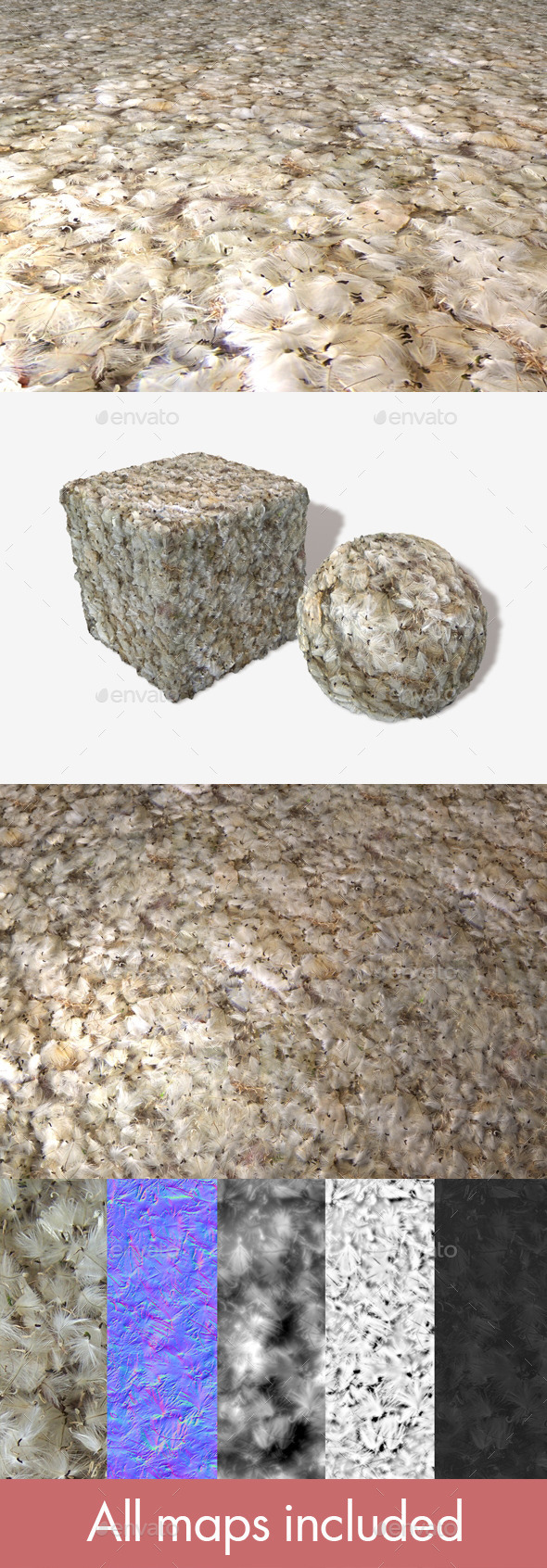 Fluffy Seeds Seamless Texture - 3DOcean Item for Sale