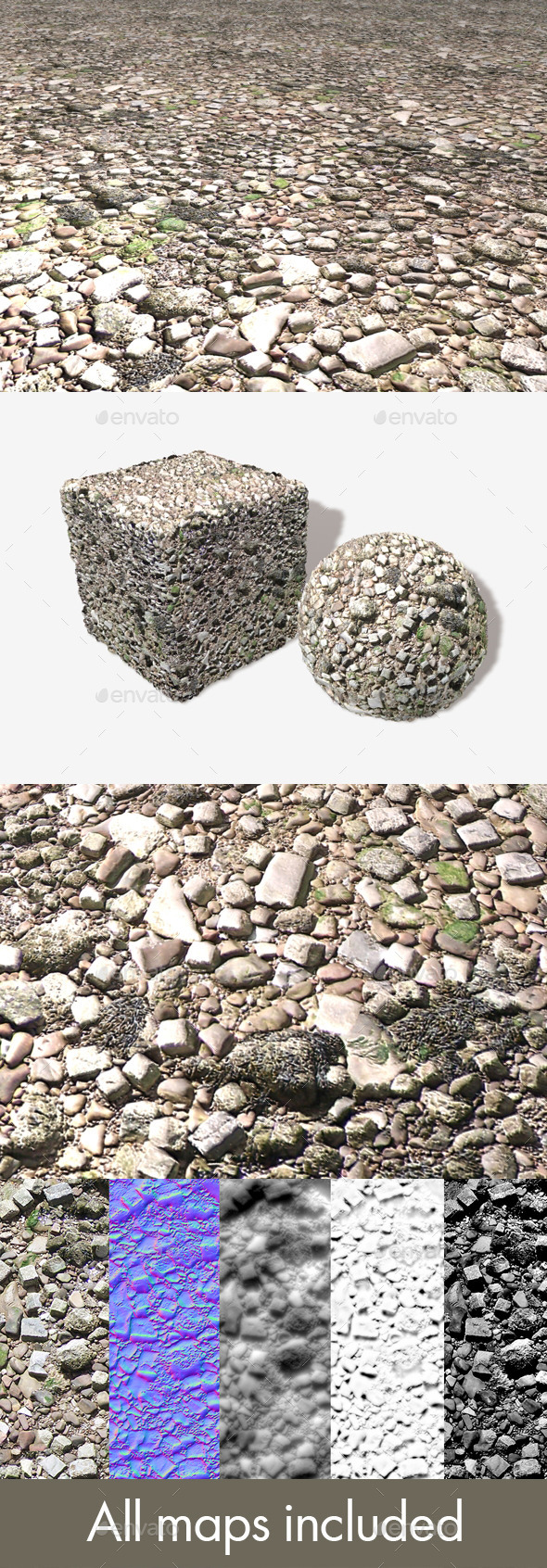 Rubble Seamless Texture - 3DOcean Item for Sale
