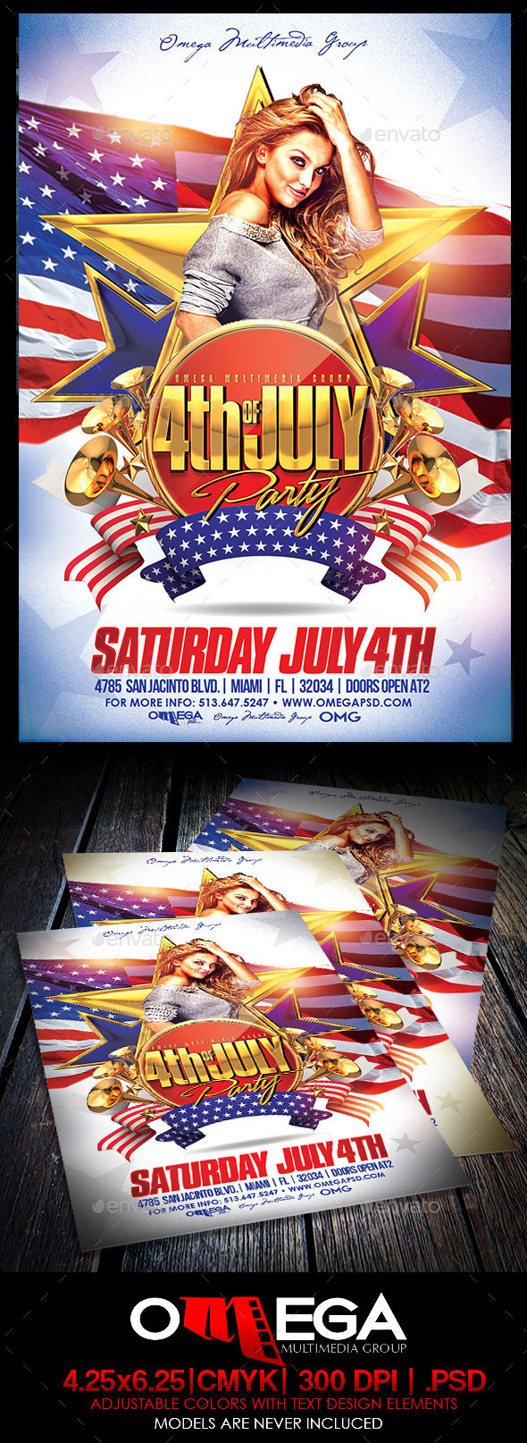 Fourth of July Party - Events Flyers