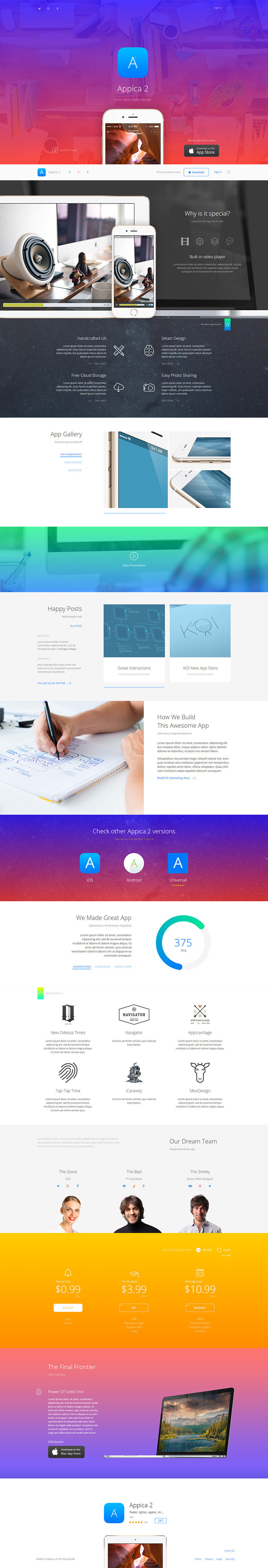 Appica 2 App Showcase Template By 8guild Themeforest