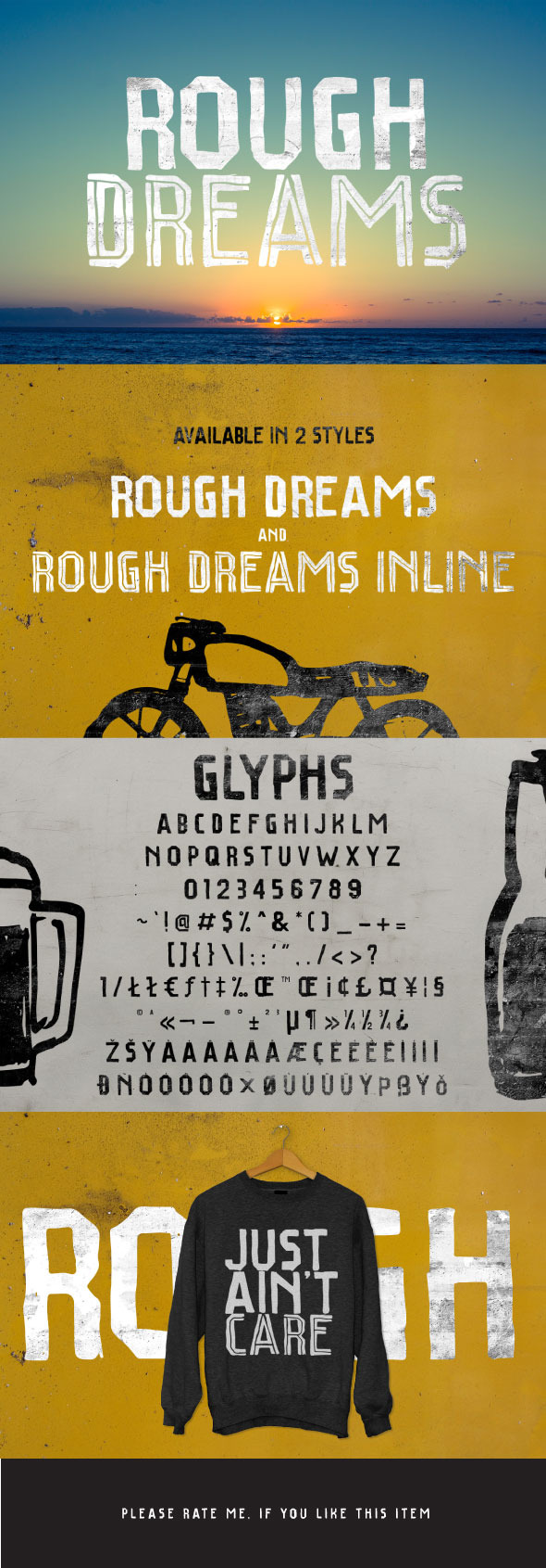 Rough Dreams - Sans-Serif Fonts