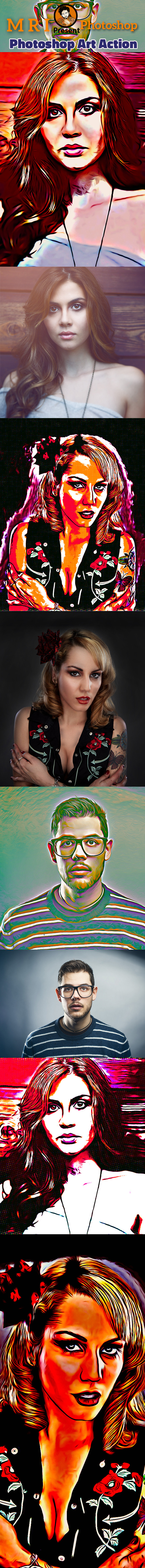 Photoshop Art Action - Photo Effects Actions