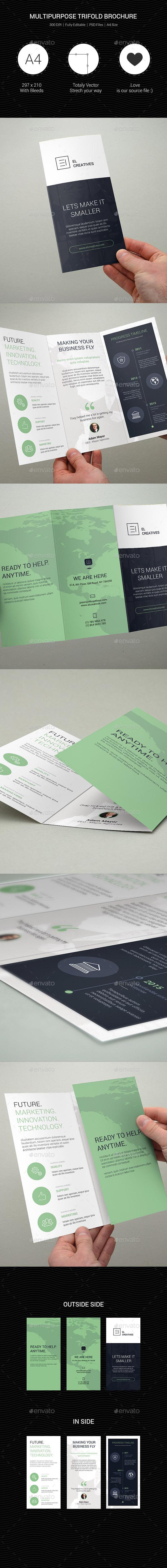 Multipurpose Creative Trifold Brochure - 07 - Corporate Brochures