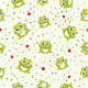 Seamless Vector Frogs Pattern - GraphicRiver Item for Sale