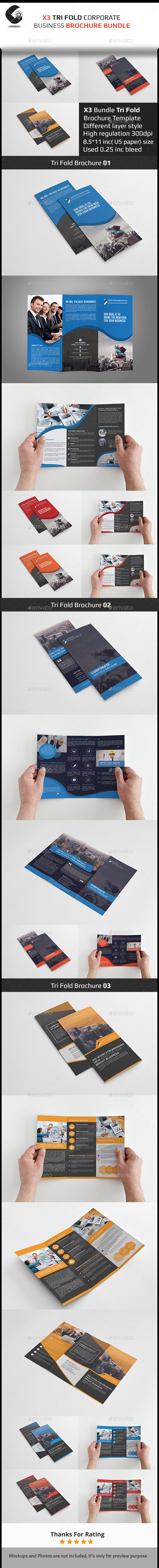 Tri Fold Brochure Bundle - Brochures Print Templates