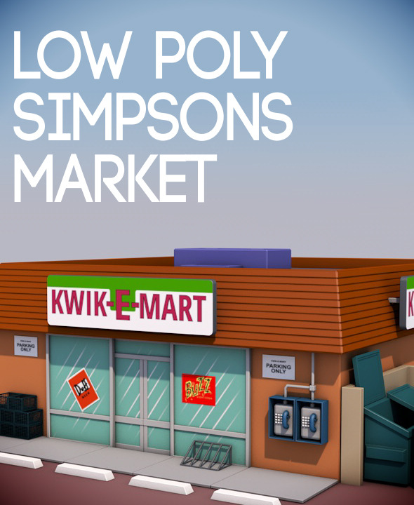 Simpsons Market - 3DOcean Item for Sale