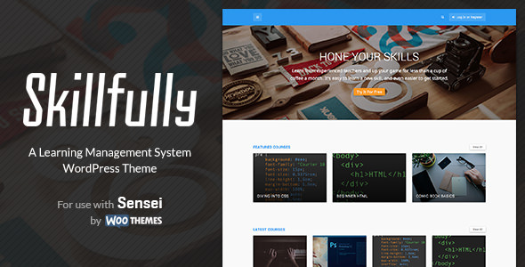 Skillfully - A Learning Management System Theme