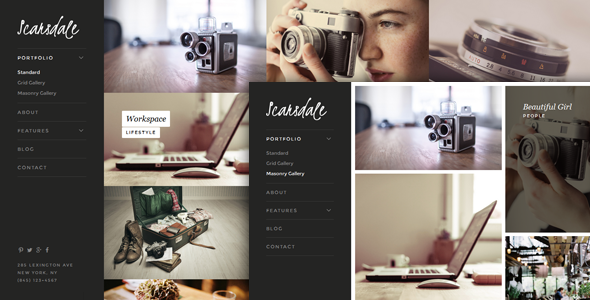 Scarsdale – Responsive HTML5 Photography Portfolio
