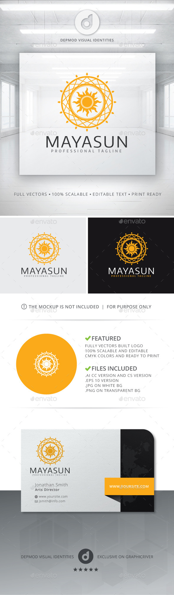 Mayasun Logo - Abstract Logo Templates