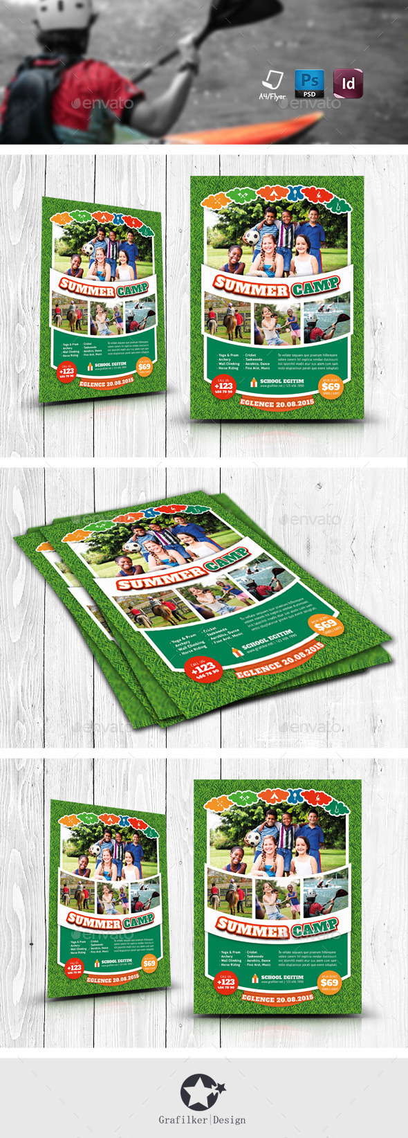 Summer Camp Flyer Templates - Corporate Flyers