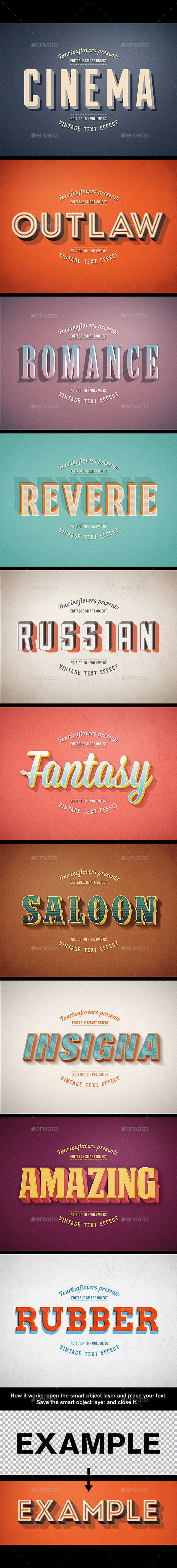 Retro PSD Text Effects vol.2 - Miscellaneous Graphics