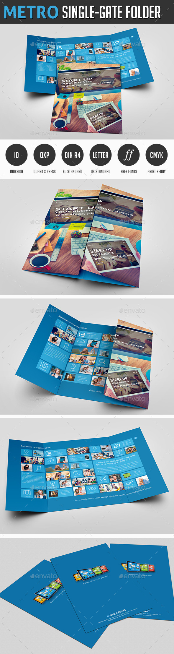 Metro Single-Gate Folder - Corporate Flyers