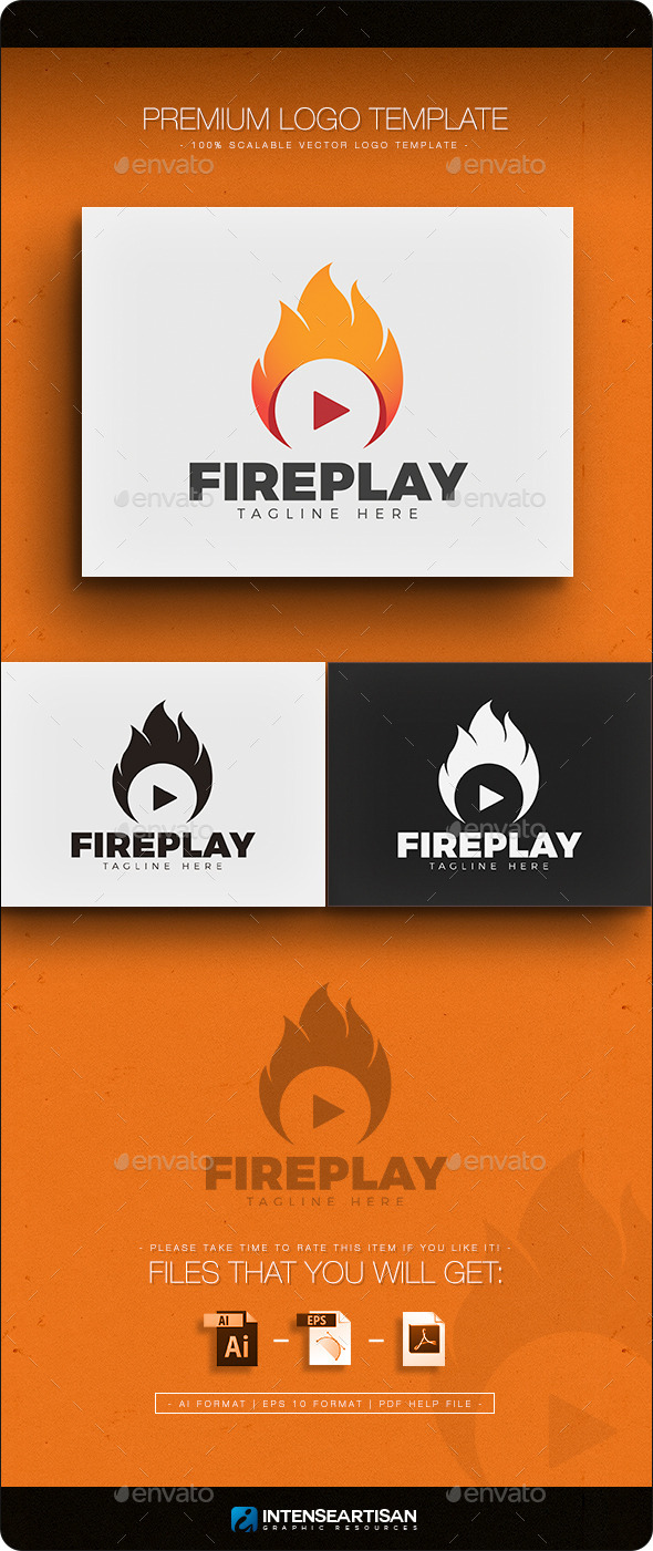 Fire Play Logo - Symbols Logo Templates