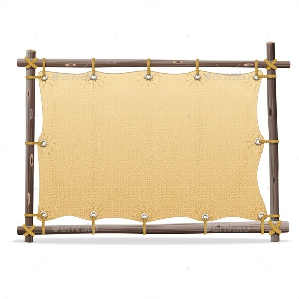 Wooden Frame with Canvas - Man-made Objects Objects