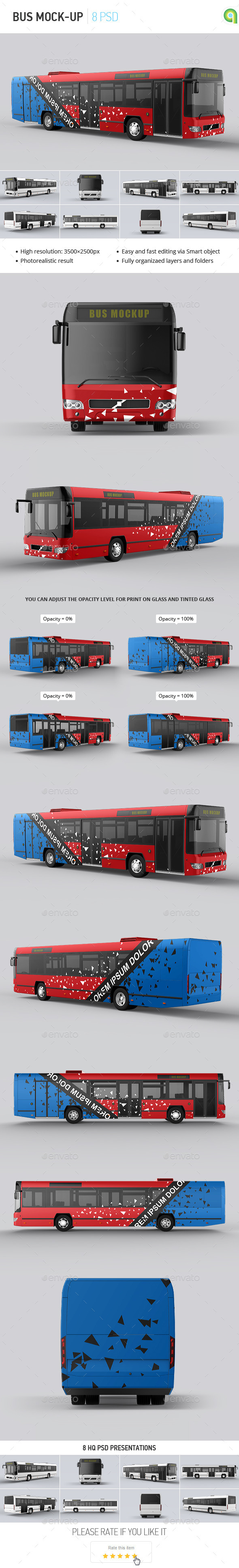 Bus Mock-up - Vehicle Wraps Print