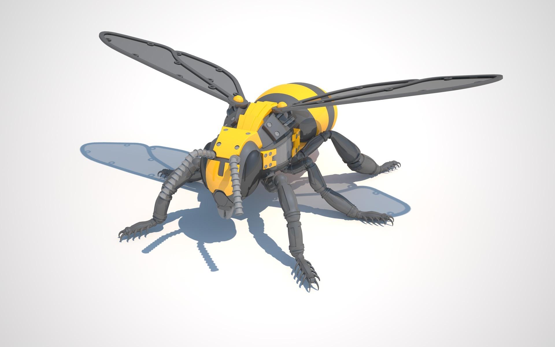 Robot Bee By Vladim00719 3docean