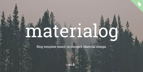 materialog - Material Design HTML5 Blog Template - Personal Site Templates