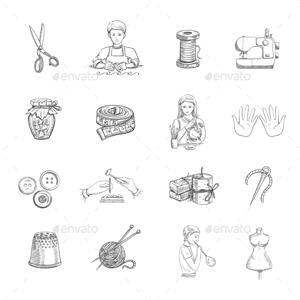 Sketch Handmade Icons Set - Miscellaneous Icons