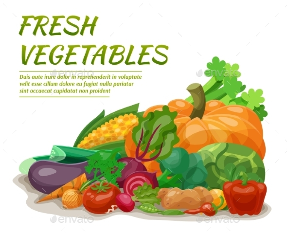 Fresh Vegetables Illustration - Food Objects