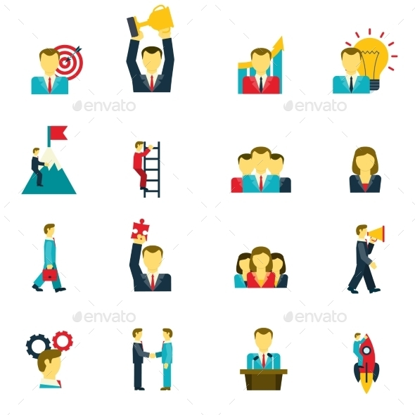 Leadership Icons Set  - Business Icons